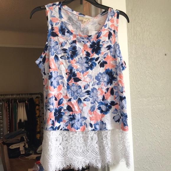 Maison Jules Tops - Flora lace shirt